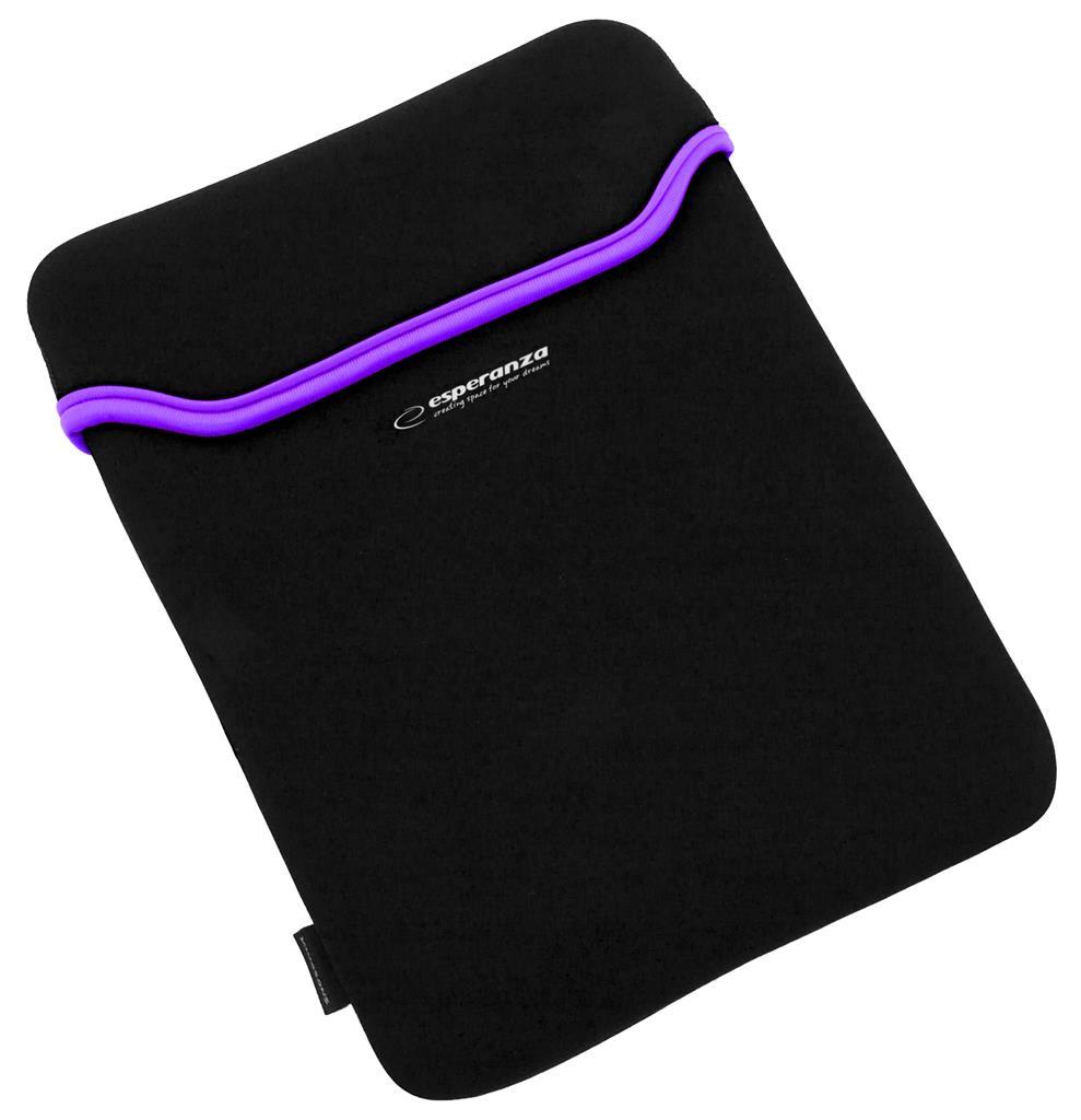 Esperanza ET171V Pouzdro pro tablet 7'', 3mm neoprén, černo-fialové