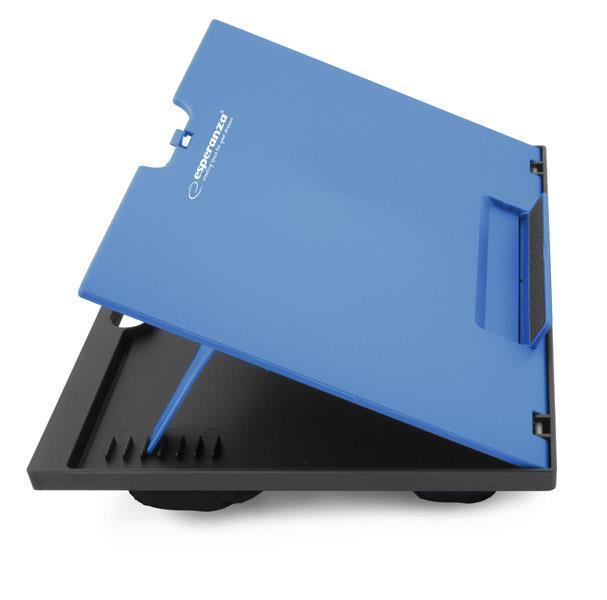 Esperanza EA154B KUKENAN nastavitelná podložka pod notebook na klín, modrá