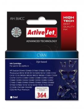 Kazeta ActiveJet AH-364CC | Cyan | 5 ml | HP 364 CB318EE