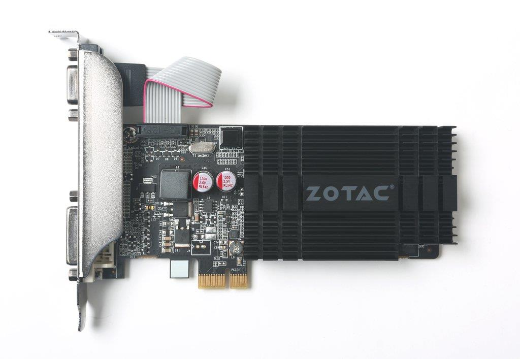 ZOTAC GeForce GT 710, 1GB DDR3 (64 Bit), HDMI, DVI, VGA