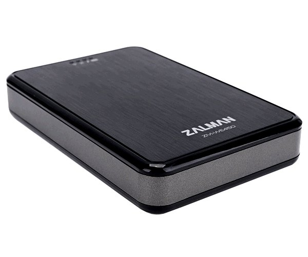 Externí wifi box , power banka Zalman ZM-WE450, 2.5'' SATA USB3.0, 5200mAh, black