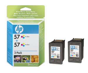 HP C9503AE Ink Cart No.57 pro DJ 5550, PS 7x50, 2x17ml, Color, (C6657AE 2x)