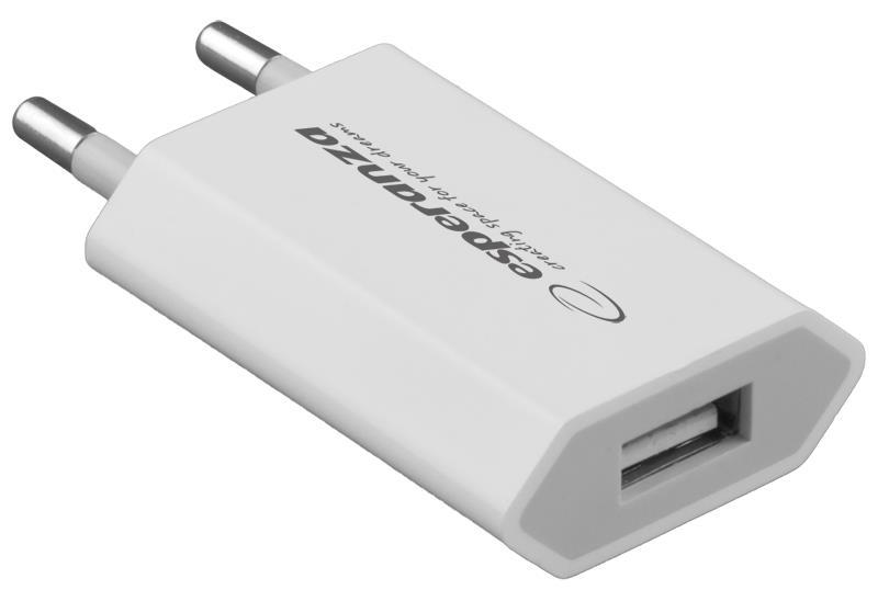 Esperanza EZ112W Univerzální nabíječka do sítě USB | AC 110-240V | 5V | 800mA