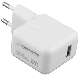 Esperanza EZ119 Univerzální nabíječka do sítě USB | AC 110-240V | 5V | 2100mA