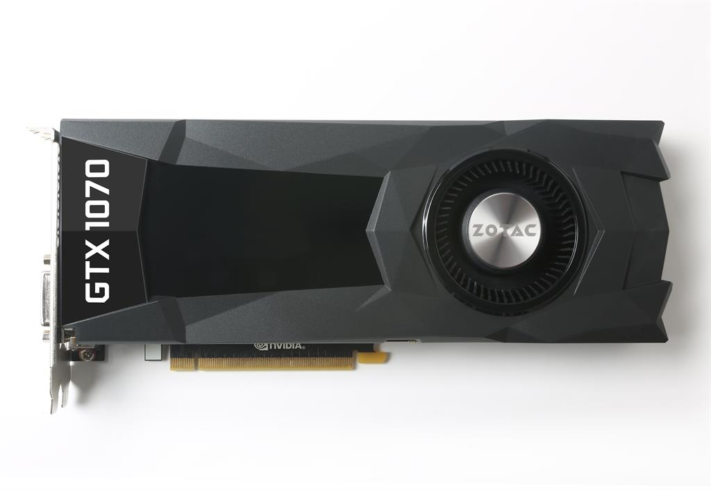 ZOTAC GeForce GTX 1070, Blower, 8GB GDDR5 (256 Bit), HDMI, DVI, 3xDP, BULK