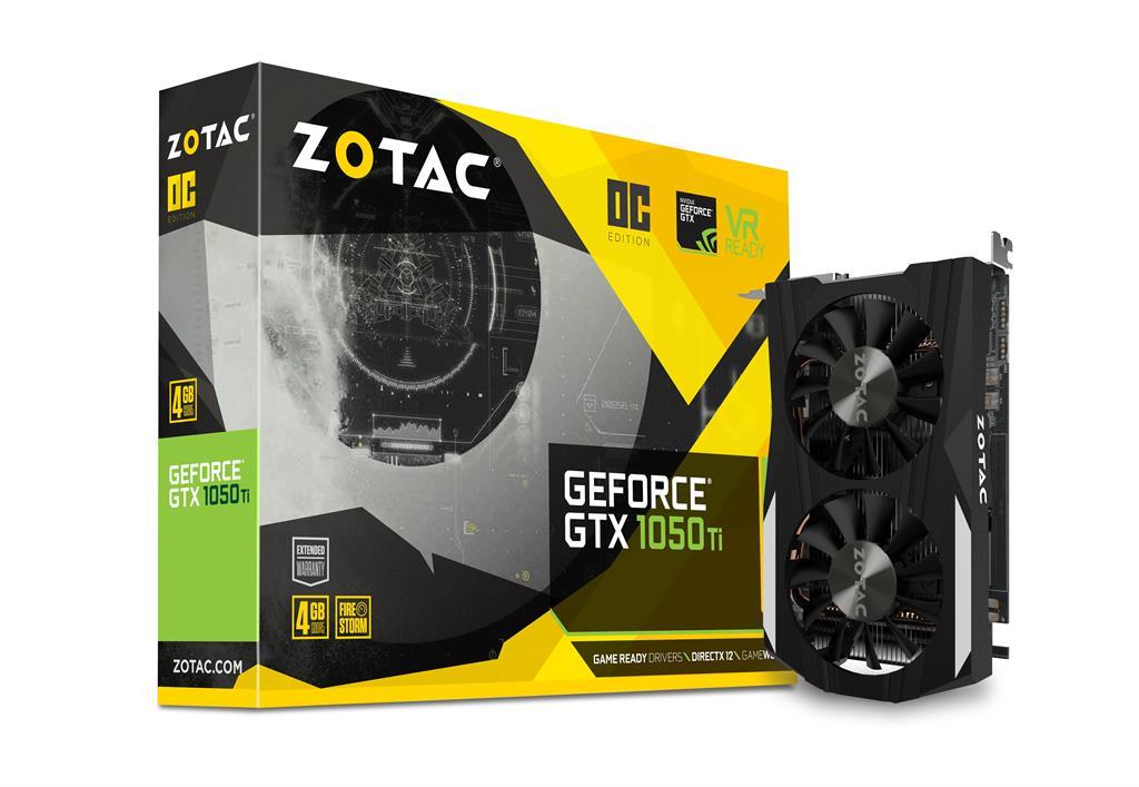 ZOTAC GeForce GTX 1050 Ti OC 128bit 4GB GDDR5 DVI-D, HDMI 2.0b, Display Port 1.4