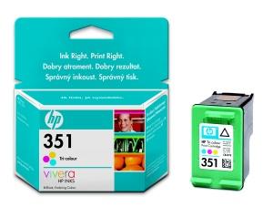 HP 351 Tri-colour Inkjet Print Cartridge with Vivera Inks