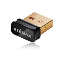 Edimax Wireless 802.11b/g/n 150Mbps nano USB 2.0 adapter, SW WPS