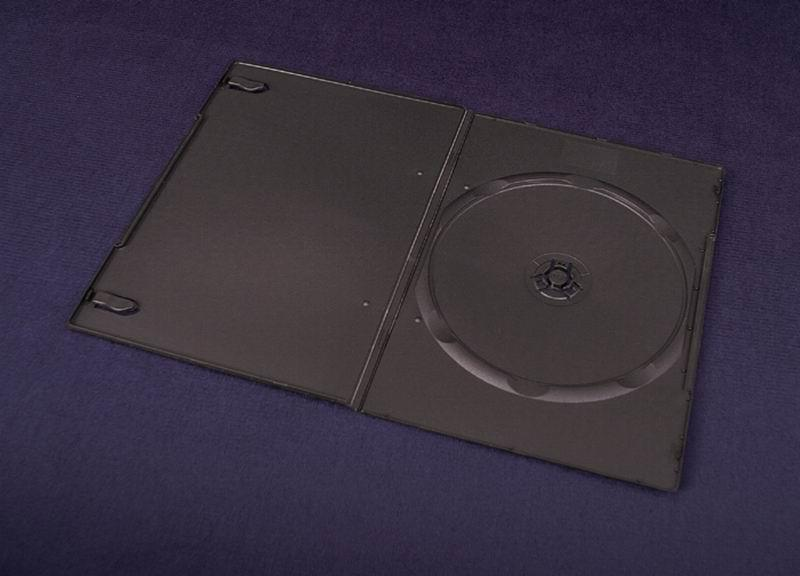 Esperanza Plastové krabičky na 1 DVD 7mm | 200 ks, černé