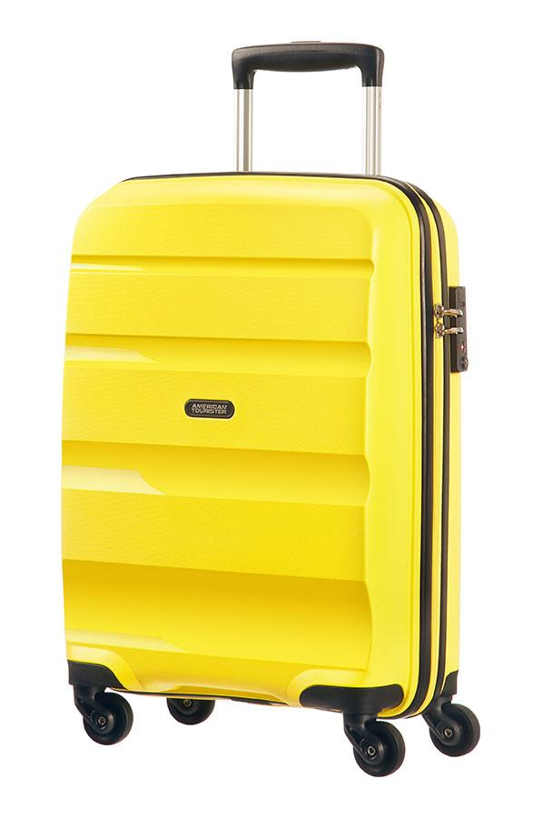 Cabin spinner AT SAMSONITE 85A06001 BonAir Strict S 55 4wheels luggage, yellow