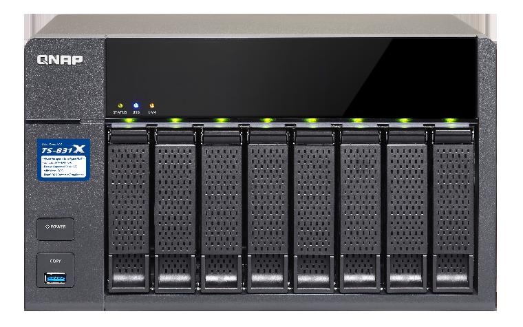 QNAP TS-831X-8G (1.7GHz, 8GB RAM, 2x SFP+ 10GbE, 2x LAN, 8x SATA)