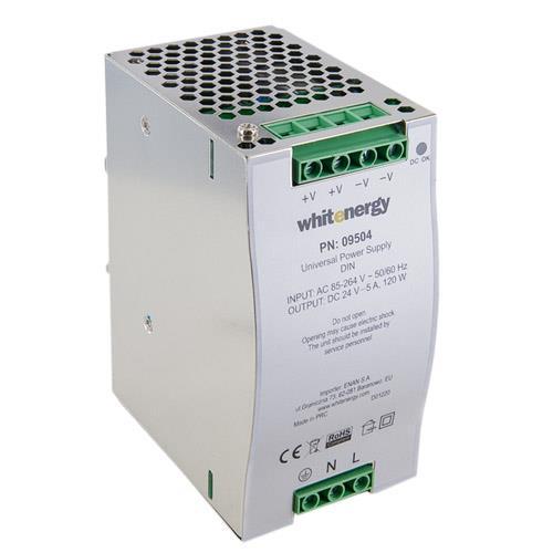 Whitenergy Univerzální napájecí zdroj 120W/DC 24V/5A /AC 90-132V
