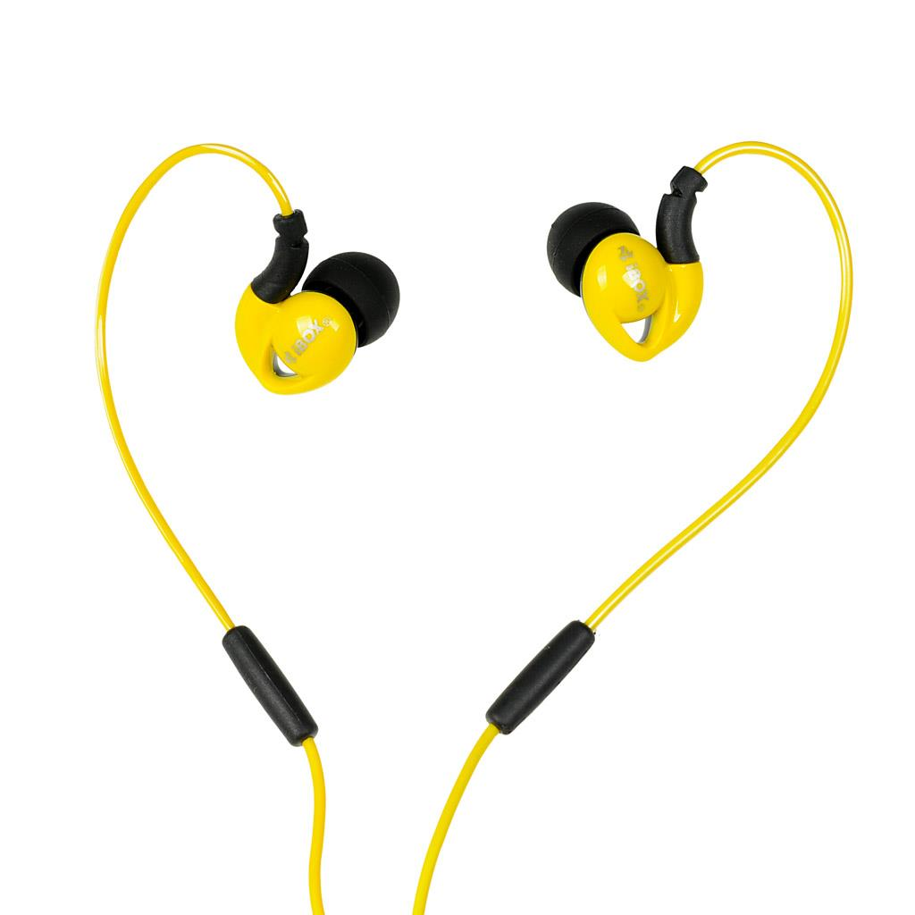 I-BOX S1 Sport sluchátka Audio Mobile YELLOW/BLACK