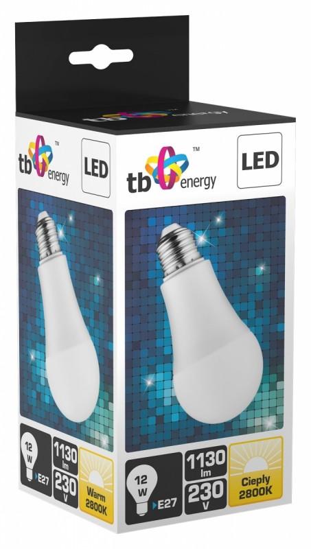 LED žárovka TB Energy E27,230V,12W, Teplá bílá