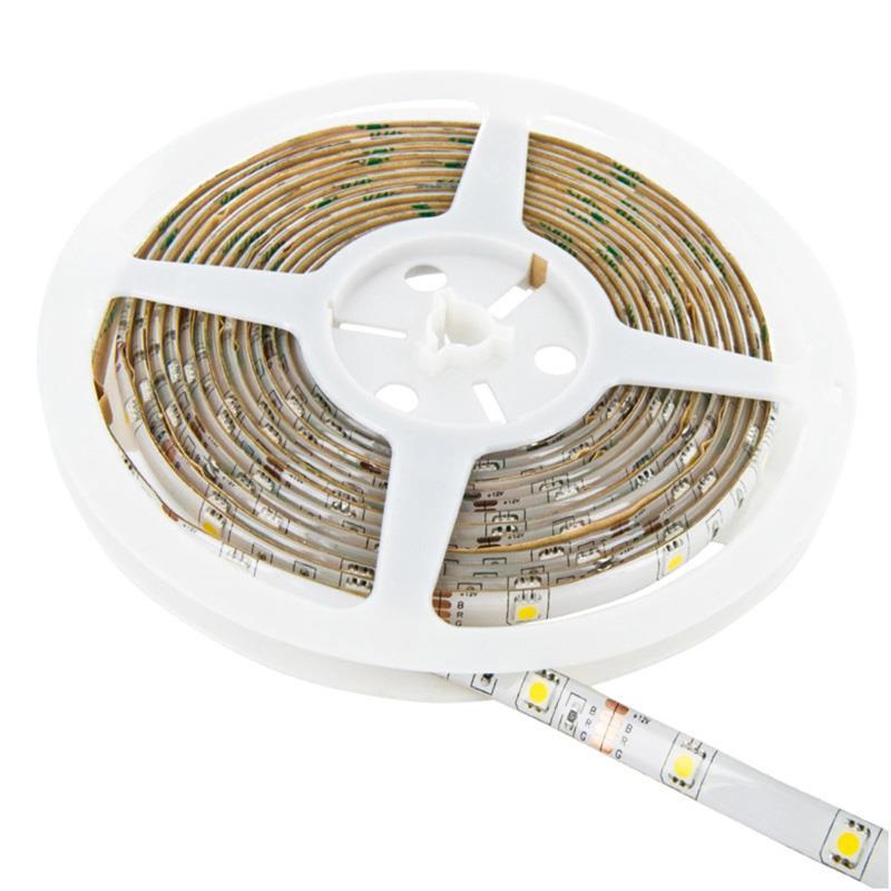 WE LED páska voděodolná 5m   120ks/m   3528   9.6W/m  12V DC   zelená