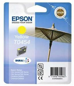 Inkoust Epson T0454 yellow | Stylus C64/66/66 Photo Edition/84/84N/84WiFi/86,CX3