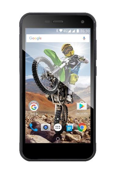 EVOLVEO StrongPhone G4, vodotěsný odolný Android Quad Core smartphone, hybridní dual SIM
