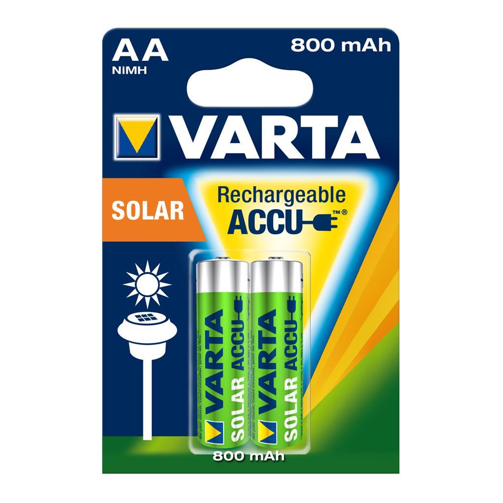 Rechargeable accu VARTA R6 800 mAh 2pcs SOLAR