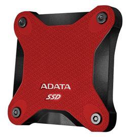 ADATA externí SSD 256GB SD600 USB 3.1 Gen1 3D NAND TLC (čtení/zápis: 440/430MB/s) červená