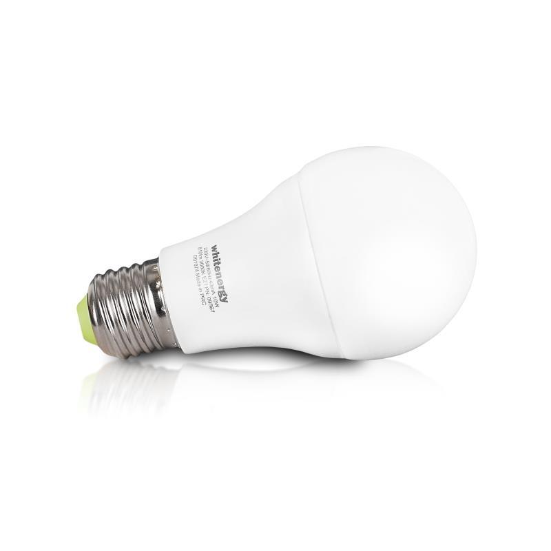 Whitenergy LED žárovka | E27 | A60 | 27xSMD5630 | 10W | tepla bílá stmívatelná
