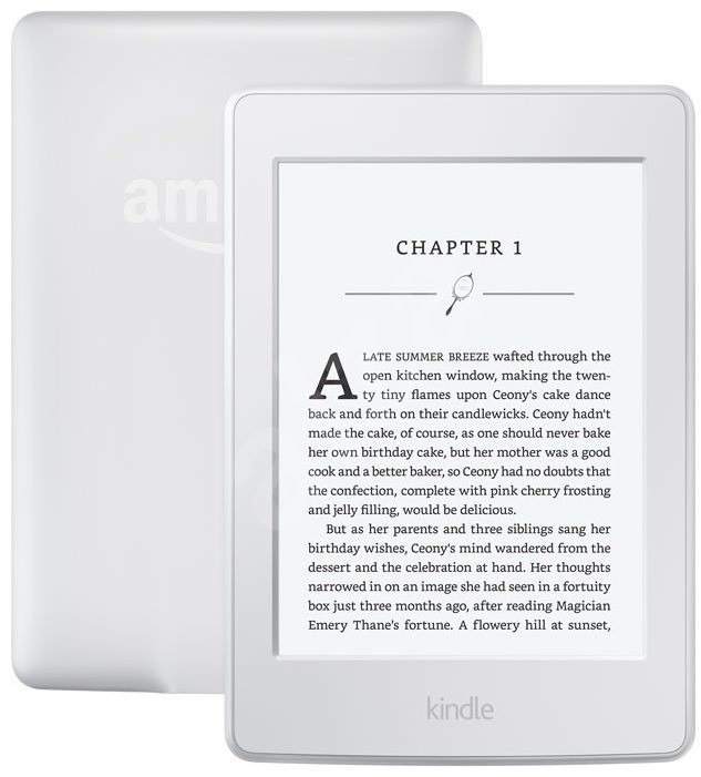 Amazon Kindle Paperwhite 3 2015, spon, bílá