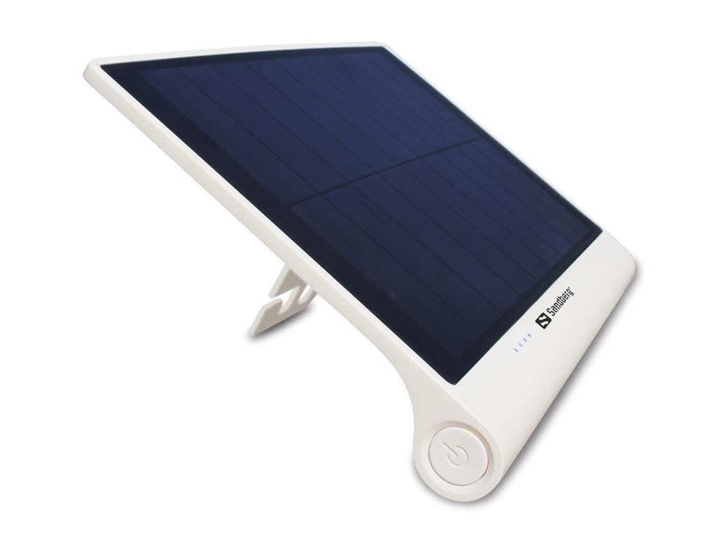 Sandberg Solar Power Bank XL 5000mAh solární přenosná baterie, bílá