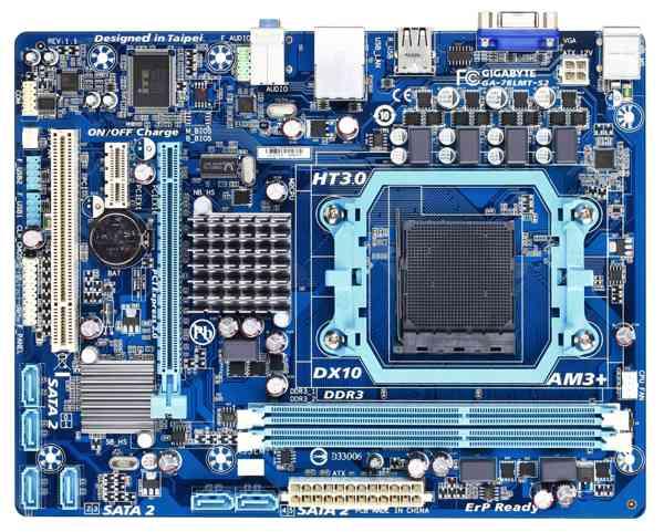 Gigabyte GA-78LMT-S2, 760G, DualDDR3-1066, SATA2, RAID, GBLAN, mATX
