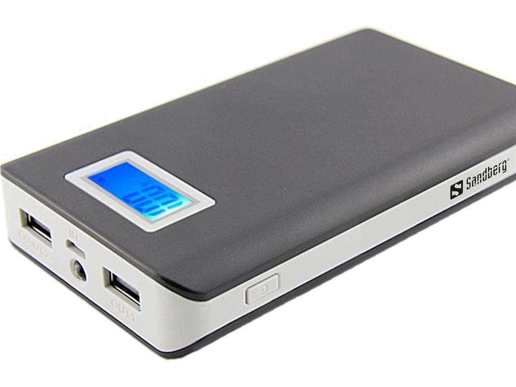 Sandberg Power Bank 12000mAh přenosná baterie, šedá