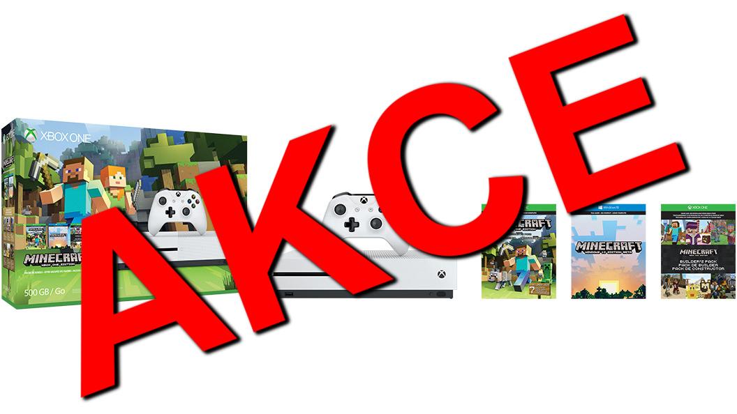 XBOX ONE S 500 GB + 1 x hra (Minecraft Favorites) - akční výprodej