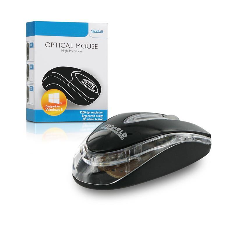 4World Myš optická BASIC1, PS2, 1200dpi, černá