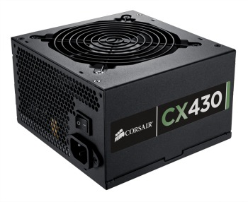 Corsair zdroj 430W CX Series CX430, 80 PLUS Bronze, 120mm ventilátor