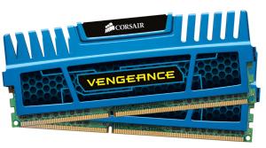 Corsair Vengeance 8GB (Kit 2x4GB) 1600MHz DDR3, CL9 1.5V, modrý chladič, XMP
