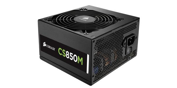 Corsair zdroj 850W CS Series CS850M, 80 PLUS Gold, modulární, Builder Series, EU