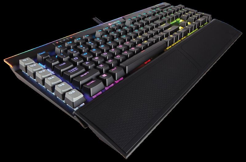 Corsair mechanická herní klávesnice K95 RGB PLATINUM, Cherry MX Speed, černá, US