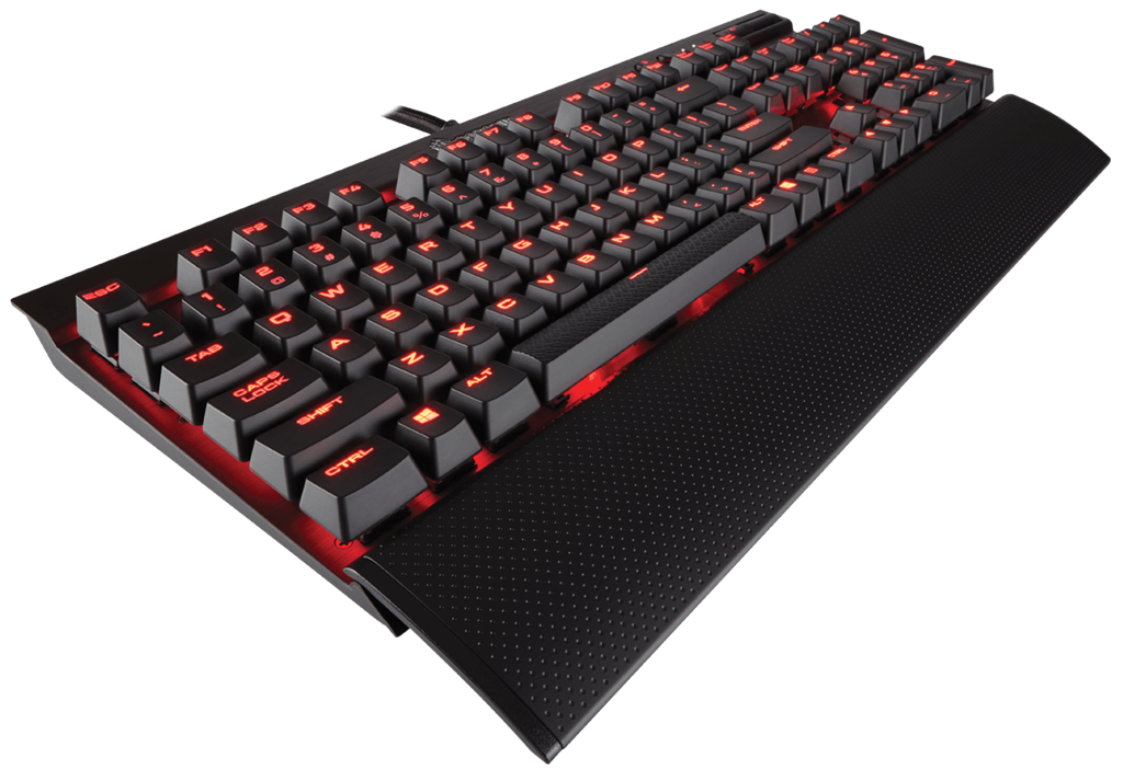 Corsair Mechanical Gaming Keyboard K70 LUX - Red LED - Cherry MX Blue