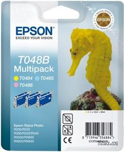 EPSON ink multipack R200/R300/RX500/RX600 -LM,LC,Y T048B