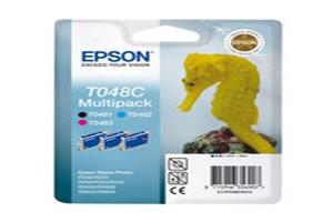 EPSON ink multipack R200/R300/RX500/RX600 - C,M,K T048C