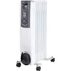 Tristar KA-5113 Elektrický olejem plněný radiátor, 7 žeber,1500 Watt, 3 různá nastavení, funkce proti překlopení topidla