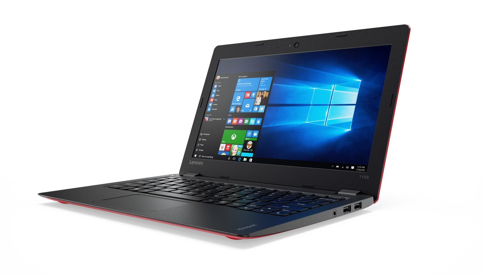 "Lenovo IdeaPad 110S-11IBR Celeron N3060 2,48GHz/2GB/32GB eMMC/11,6"" HD/AG/WIN10 červená 80WG008ECK"