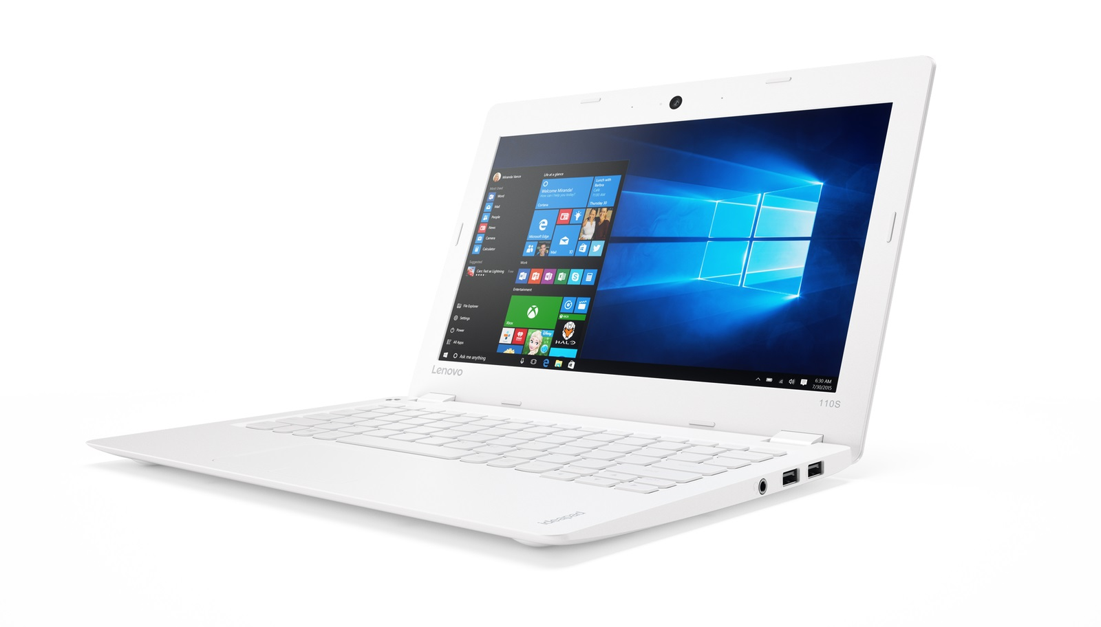 "Lenovo IdeaPad 110S-11IBR Celeron N3060 2,48GHz/2GB/32GB eMMC/11,6"" HD/AG/WIN10 bílá 80WG008GCK"