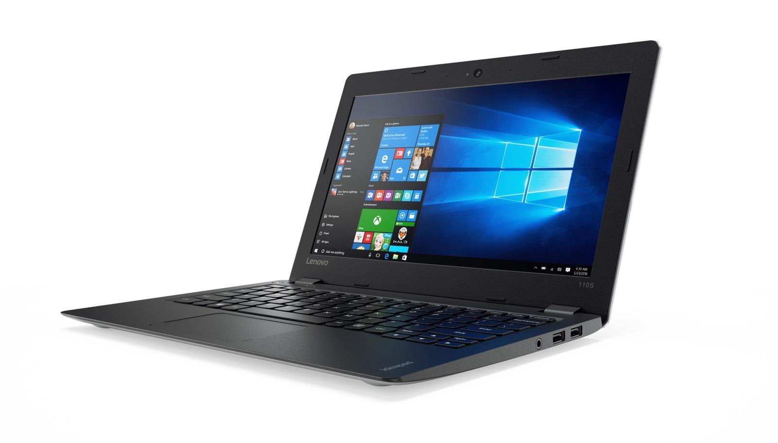 "Lenovo IdeaPad 110S-11IBR Celeron N3060 2,48GHz/2GB/32GB eMMC/11,6"" HD/AG/WIN10 stříbrná 80WG008FCK"