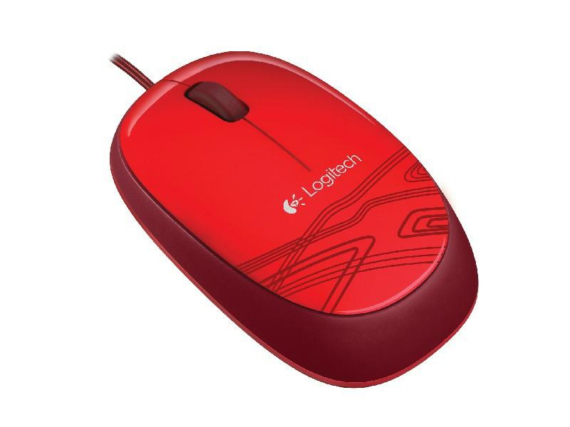 Logitech Počítačová myš M105 červená