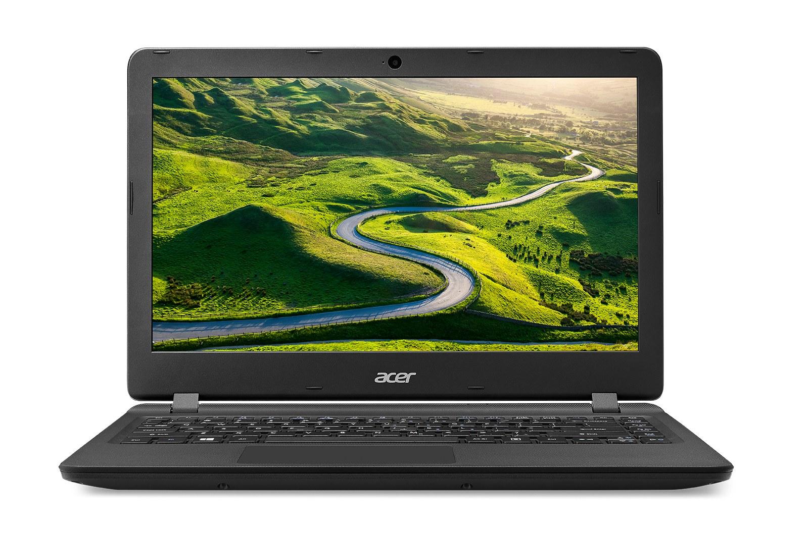 """Acer Aspire ES 13 (ES1-332-C7AK) Celeron N3350/4GB+N/A/eMMC 32GB+N/A/HD Graphics/13.3"""" HD matný/BT/W10 Home/Black/One Drive"""
