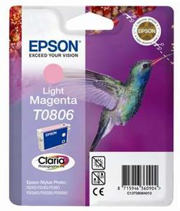 Inkoust Epson T0806 light magenta | Stylus Photo R265/285/360,RX560/585/685