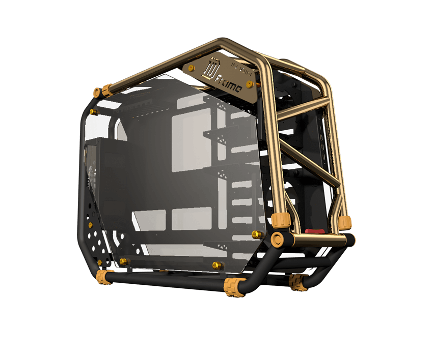 skříň In Win D-FRAME 2.0 black/gold + 1065W zdroj
