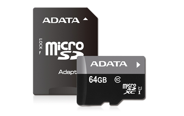 ADATA 64GB MicroSDHC Card+USB micro readerClass 10