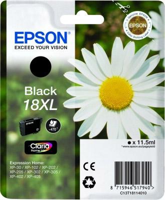 Inkoust Epson T1811 Black XL   11,5 ml   XP-102/202/205/302/305/402/405/405WH