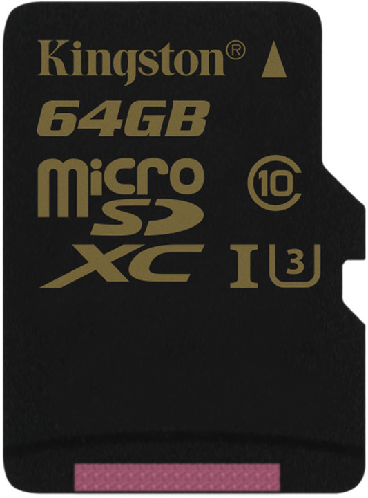 KINGSTON 64GB microSDXC Class U3 UHS-I 90R/45W Single Pack bez adapteru