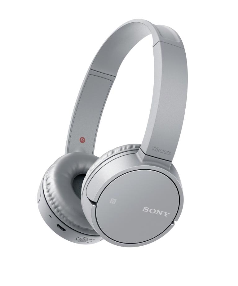 SONY MDR-ZX220BT Bezdrátová Bluetooth sluchátka přes hlavu - šedá