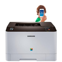 Samsung SL-C1810W/SEE, A4, 18ppm, 9600/600 dpi, 256MB, USB 2.0, Wi-Fi, LCD display, NFC